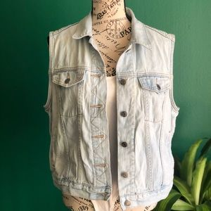 [Gap] Light Denim Vest Jacket